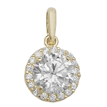 Super Solitaire Gold Pendant
