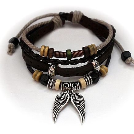 Biarritz Brown Surfer Bracelet