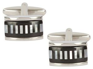 Onyx Stripes Cufflinks