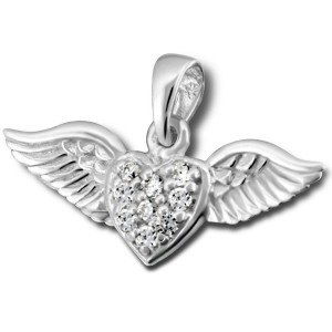 Silver CZ Angelwings