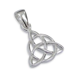 Silver Celtic Triangle