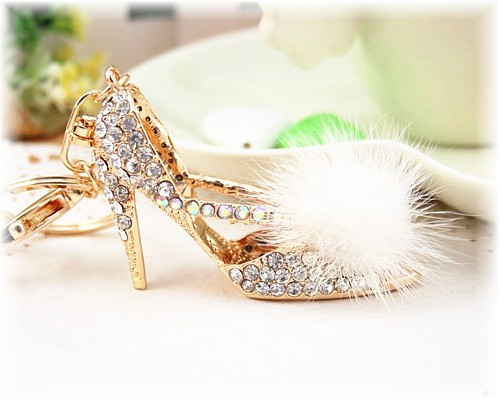 The Feather Stiletto Keyring Charm