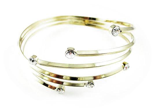 Gold Jewelled Circles Armband Armbands