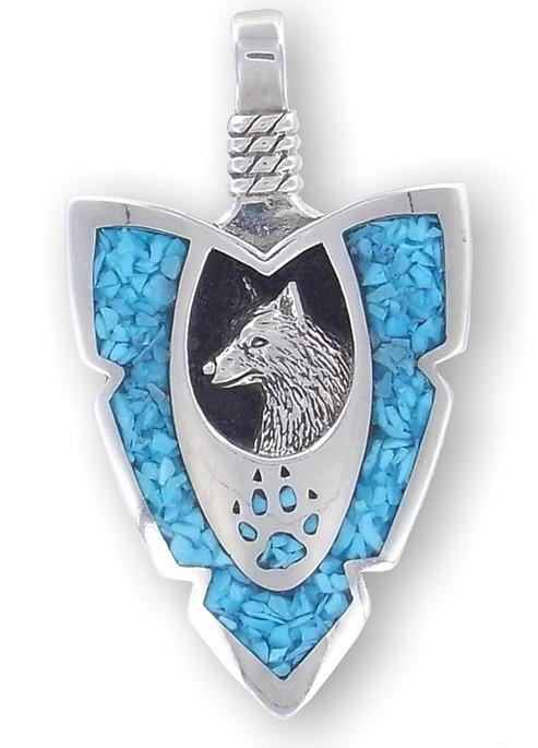 Mighty wolf arrowhead pendant native american neckwear mighty wolf arrowhead pendant aloadofball Gallery