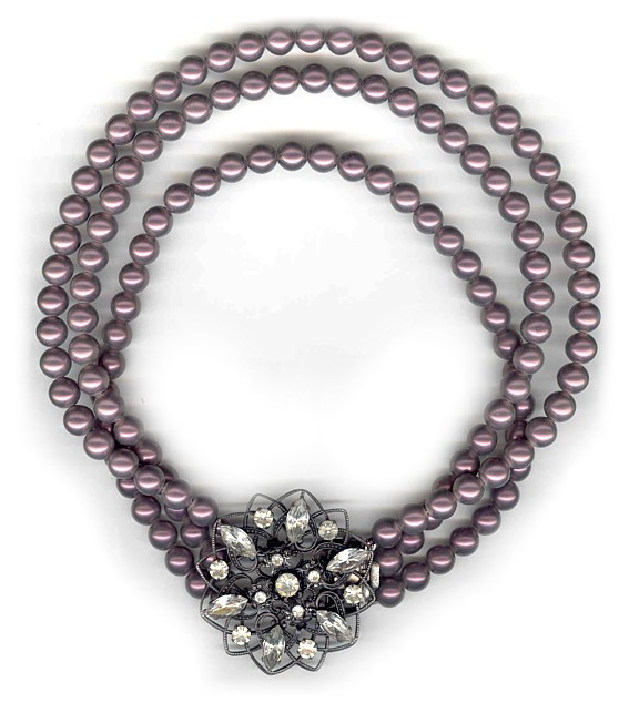 Aubergine Pearl Necklace
