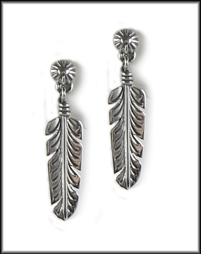 Aztec Feather Earrings