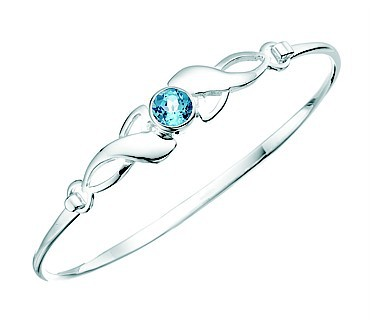 Blue Topaz Celtic Crystal Bangle