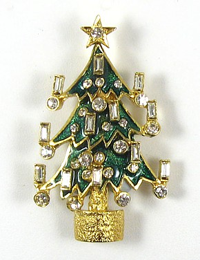 Christmas Tree with Candles Brooch
