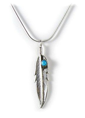 Corrales Feather Pendant