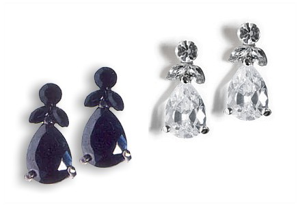 Crystal Fleur de Lys Earrings