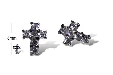 Celestial Diamond Cross Studs