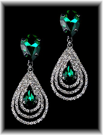 Emerald Teardrop Royale Earrings