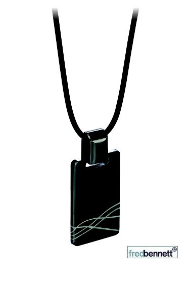 Black Steel Dog Tag