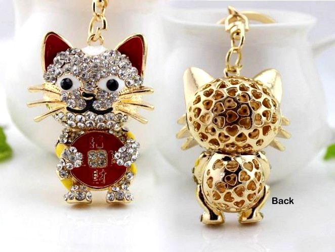 Fortune Cat Keyring