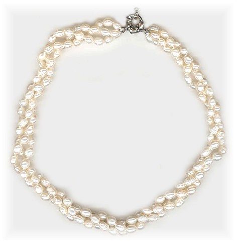 Freshwater Pearl Twister Necklace