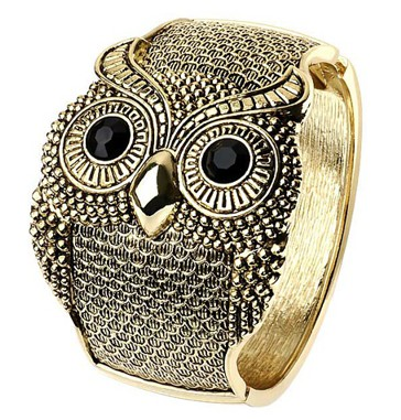 Gold Owl Bangle
