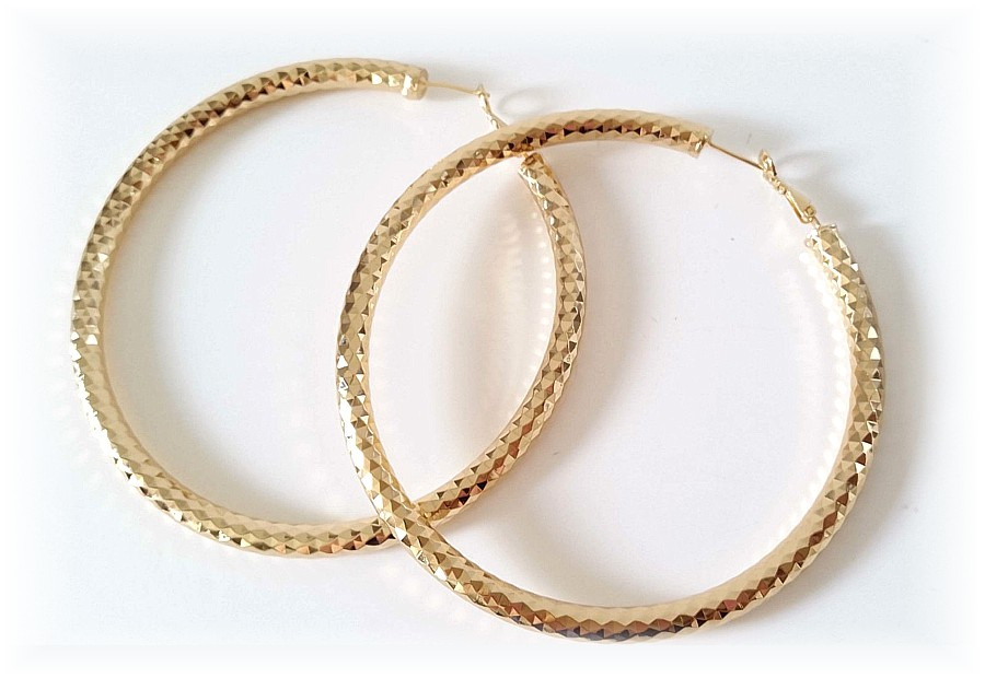 Gold Snake Hoop Earrings