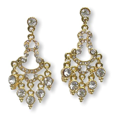 Golden Chandeleros Earrings