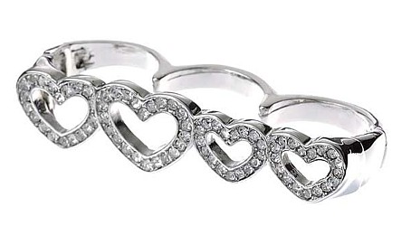 Hearts Desire Knuckle Duster, Cocktail Rings