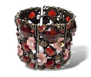 Scarlet Honeysuckle Ruffle Bangle