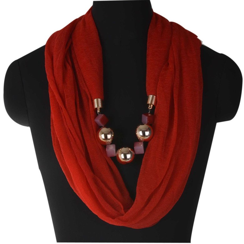 Red Infinity Jewellery Scarf