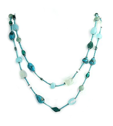 Long n Lean Aquamarine Necklace