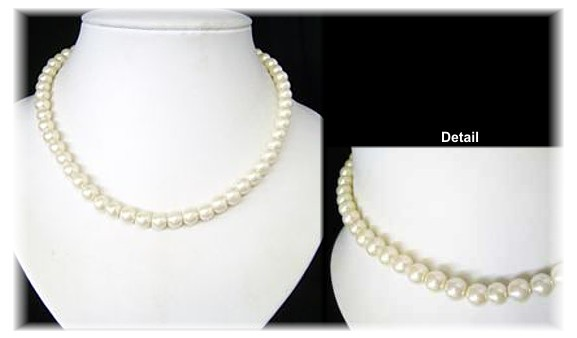 Just 8mm Pale Ivory Pearls