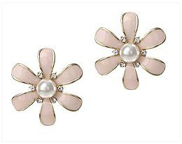 Pastel Pink Pearl Petunia Earrings