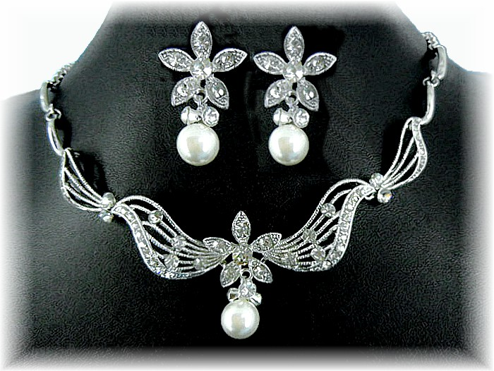 Pearl Marquise Set
