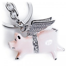 Pigs might Fly Keyring Bag Charm