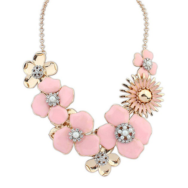 Pink Posie Necklace