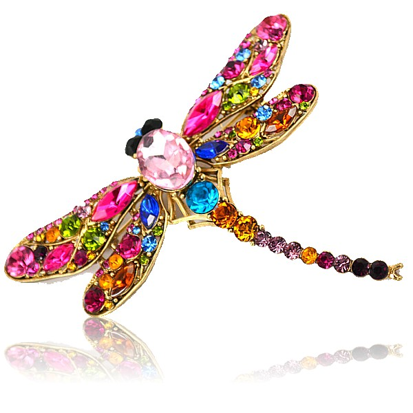 Rainbow Dragonfly Brooch