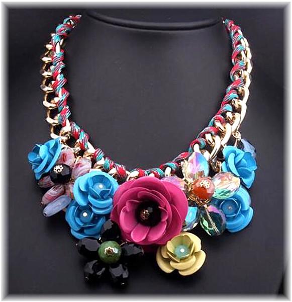 Rainbow Flower Necklace Colour Necklaces