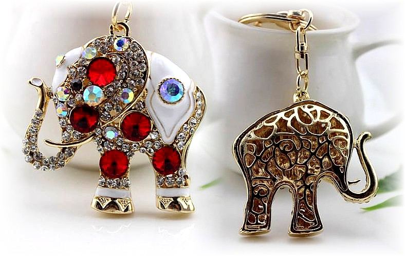 The Red Elephant Keyring