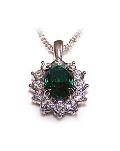 Regally Emerald Pendant