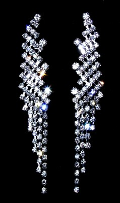 Rhinestone Angel Wing Earrings