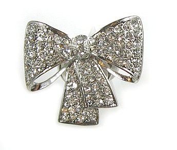 Siver Hollywood Bow Ring