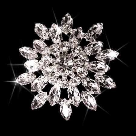 Swarovski Crystal Giant Snoflake Brooch