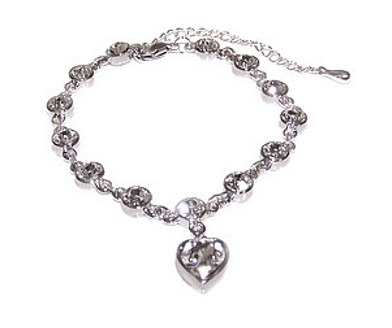 Clear Crystal Heavenly Heart Bracelet