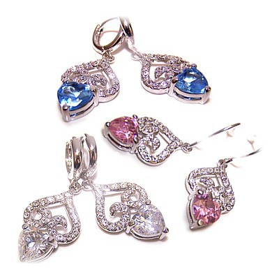 Swarovski Crystal Ice Cool Heart Earrings