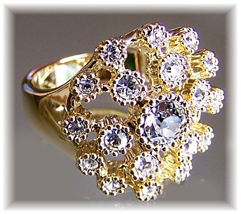 Gold Top Ring