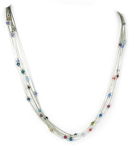 Swarovski Jewels 5 Strand Necklace