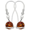 Amber Swirl Earrings