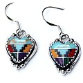 Aztec Heart Earrings