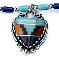 Aztec Heart Necklace