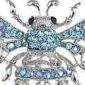 Big Blue Bee Brooch