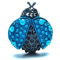 Blue Bug Brooch