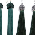 Boho Green Earrings
