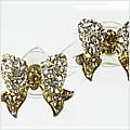 Bow Diddly Gold Earrings