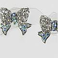 Bow Diddly Silver Earrings